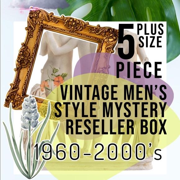 MEN'S VTG Plus Size MYSTERY Reseller Bundle Box